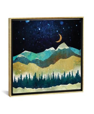 """Snow Night by Spacefrog Designs Gallery-Wrapped Canvas Print - 37"""" x 37"""" x 0.75"""""""