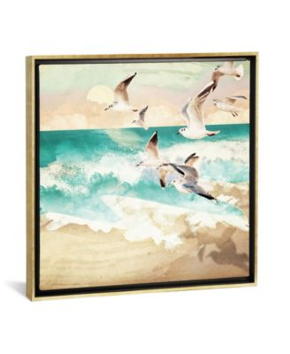"""Summer Flight by Spacefrog Designs Gallery-Wrapped Canvas Print - 18"""" x 18"""" x 0.75"""""""