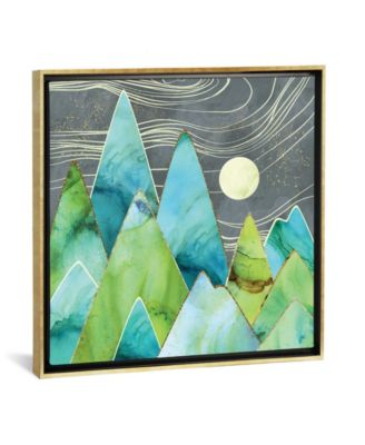 """Moonlit Mountains by Spacefrog Designs Gallery-Wrapped Canvas Print - 37"""" x 37"""" x 0.75"""""""