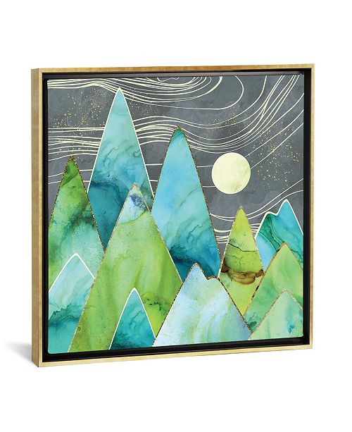 """iCanvas Moonlit Mountains by Spacefrog Designs Gallery-Wrapped Canvas Print - 37"""" x 37"""" x 0.75"""""""