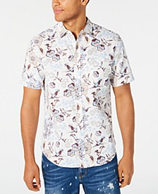 Men's Floral Print Short Sleeve Shirt