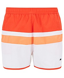BOSS Men's Moonfish Vintage-Inspired Swim Shorts