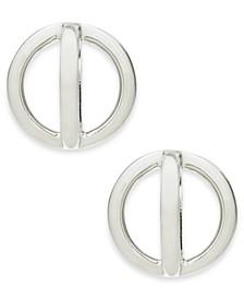 Silver-Tone Orbital Stud Earrings, Created for Macy's