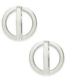 Alfani Silver-Tone Orbital Stud Earrings, Created for Macy's