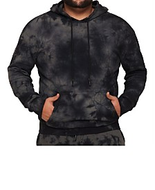 MVP Collections Men's Big and Tall Tie-Dye Long Sleeve Pullover Hoodie