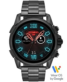 Men's Full Guard 2.5 Gunmetal Stainless Steel Bracelet Touchscreen Smart Watch 48mm, Powered by Wear OS by Google™