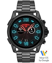 f959d7005749 Diesel Men s Full Guard 2.5 Gunmetal Stainless Steel Bracelet Touchscreen  Smart Watch 48mm