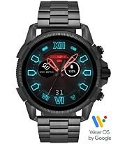 a10fc2e493ff Diesel Men s Full Guard 2.5 Gunmetal Stainless Steel Bracelet Touchscreen  Smart Watch 48mm