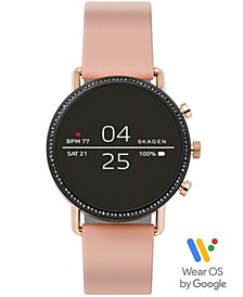 Women's Falster 2 Blush Silicone Strap Touchscreen Smart Watch 40mm, Powered by Wear OS by Google™