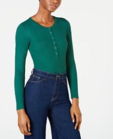 Self Esteem Juniors' Long-Sleeve Snap Bodysuit