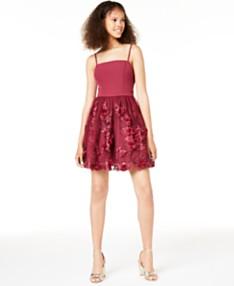 7949f4470 Trixxi Juniors' 3D Petals Fit & Flare Dress