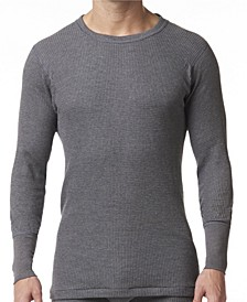 Men's Waffle Knit Thermal Long Sleeve Shirt