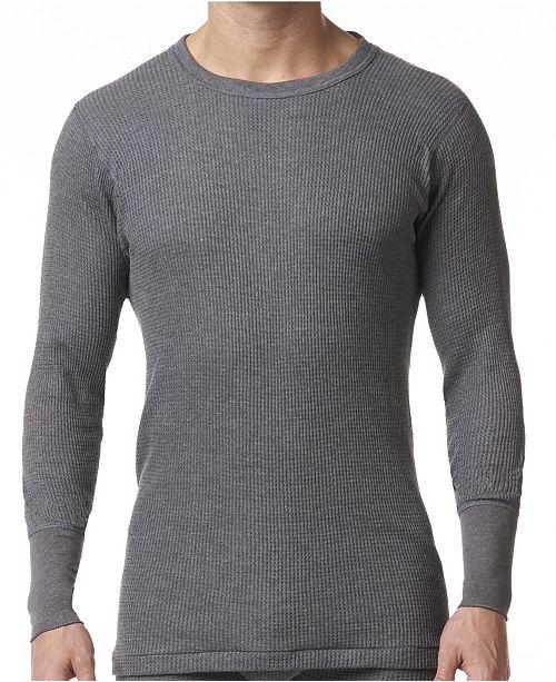 Men's Waffle Knit Thermal Long Sleeve Shirt