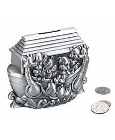 Noah's Ark Pewter Coin Bank