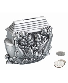 Lillian Rose Noah's Ark Pewter Coin Bank