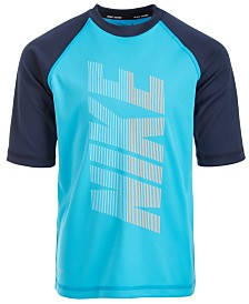 Nike Little Boys Half-Sleeve Logo-Print Rash Guard
