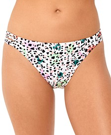 Juniors' Waiting Fur Tonight Strappy-Side Hipster Bikini Bottoms, Created for Macy's