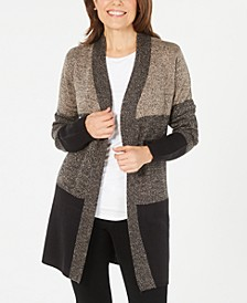 Plus Size Turbo Colorblocked Cardigan Sweater, Created for Macy's