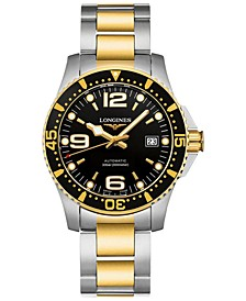 Men's Swiss Automatic Hydroconquest Two-Tone PVD Stainless Steel Bracelet Watch 41mm