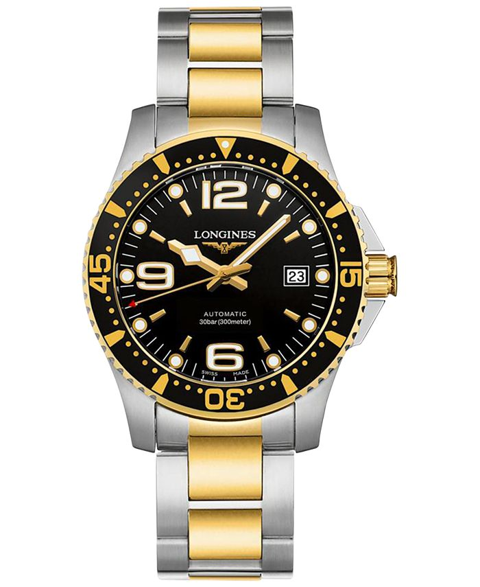 Longines - Men's Swiss Automatic Hydroconquest Two-Tone PVD Stainless Steel Bracelet Watch 41mm