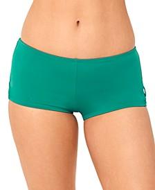 Juniors' Strappy-Side Boyshort Swim Bottoms, Created for Macy's