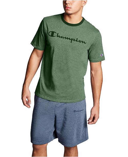 Champion Men's Heritage Script-Logo Heathered T-Shirt