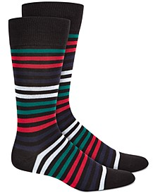 Men's Striped Dress Socks, Created for Macy's