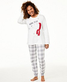Matching Women's Mama Bear Pajama Set, Created For Macy's