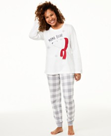 Matching Family Pajamas Women's Mama Bear Pajama Set, Created For Macy's