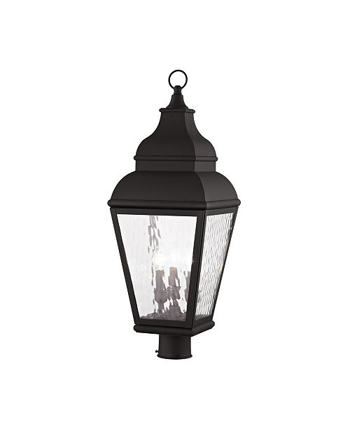 Livex Exeter 3-Light Outdoor Post Lantern