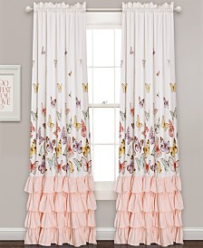 "Flutter Butterfly 84""x52"" Window Curtain Set"