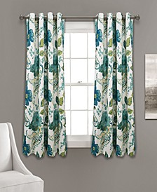 "Floral Paisley 52"" x 63"" Curtain Set"