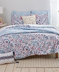 Ivory Ella Nicole Twin Duvet Cover Set