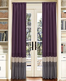 "Mia Color Block 84""x54"" Window Curtain Set"