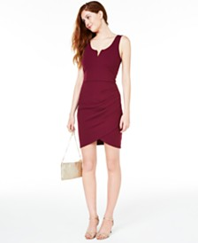 BCX Juniors' Draped Bodycon Dress