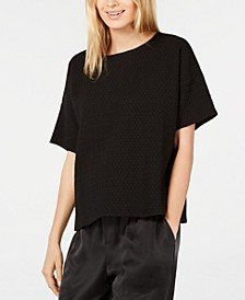 Textured Scoop-Neck T-Shirt