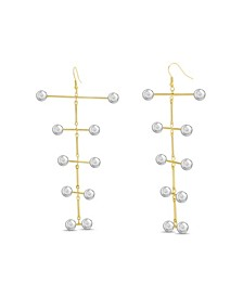 Women's Tiered Ball Stick Drop Earrings