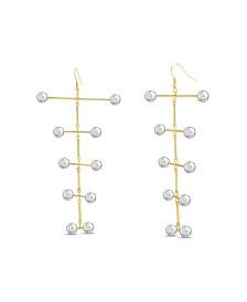 Catherine Malandrino Women's Tiered Ball Stick Drop Earrings