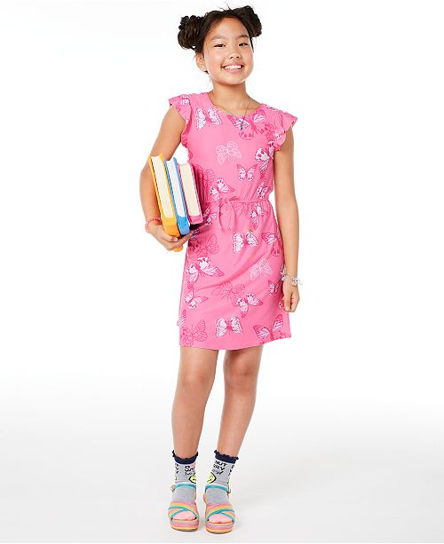 Epic Threads Big Girls Butterfly-Print Dress, Created for Macy's