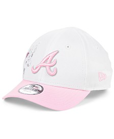 New Era Toddlers & Little Girls Atlanta Braves Minnie Heart 9FORTY Adjustable Cap