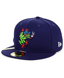 Everett AquaSox MiLB 100TH Anniversary Patch 59FIFTY-FITTED Cap