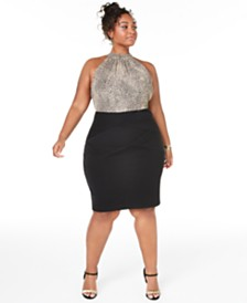 Teeze Me Trendy Plus Size Animal-Print Bodycon Dress