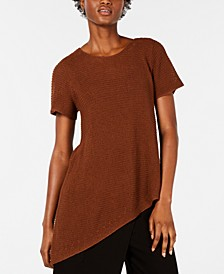 Asymmetrical-Hem Tunic Sweater