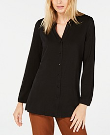 Mandarin-Collar Tunic, Regular & Petite