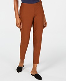 Eileen Fisher Pull-On Slim-Fit Pants