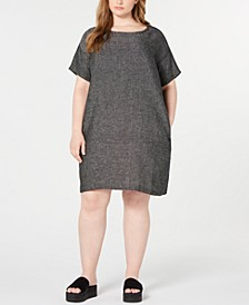 Plus Size Organic Linen Shift Dress