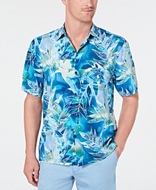 Mens Big & Tall Azul Lagoon Camp Shirt