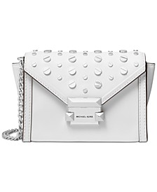 Leather Studded Convertible Small Crossbody Belt Bag