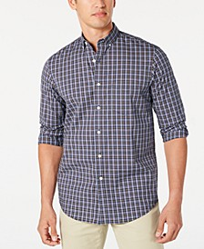 Men's Stretch Plaid Shirt, Created for Macy's