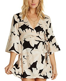 Billabong Juniors' Printed Wrap Dress